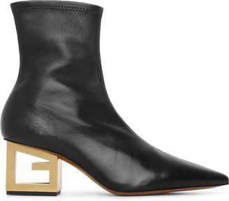 Givenchy Triangle stretch leather boots