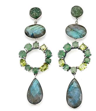 Samuel B. Silver Gemstone Drop Earrings