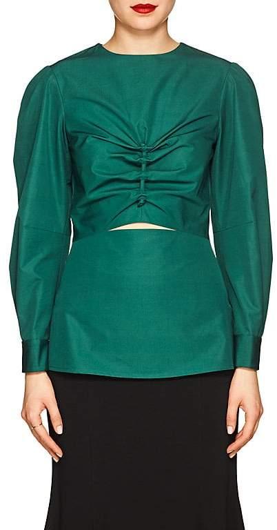Derek Lam Women's Ruched Cotton Blouse