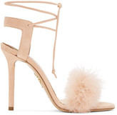 Charlotte Olympia Pink Suede Salsa Sandals