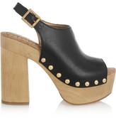 Sam Edelman Marley Leather Platform Clogs