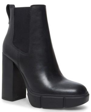 Steve Madden Women's Revised Block-Heel Lug-Sole Booties