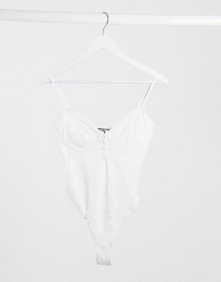 Fashion Union strappy body in lace