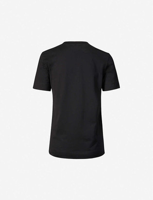 Emilio Pucci Logo-print cotton and silk-blend jersey T-shirt