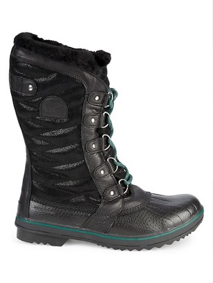Sorel Tofino II Lux Leather Faux Shearling Lined Outdoor Boots