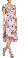 Gabby Skye Floral High/Low Short Sleeve Dress