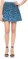 Juicy Couture Flock Regent Leopard Fr Terry Skirt