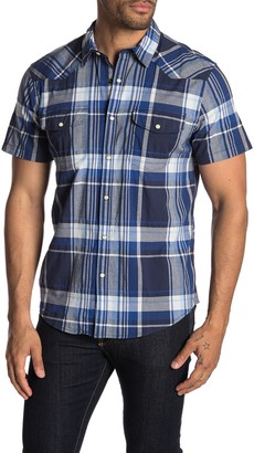 Lucky Brand Santa Fe Western Plaid Short Sleeve Classic Fit Shirt