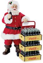 Kurt Adler Coca-Cola® Delivery Cart 10.5-Inch 2-Piece Santa Figurine Set