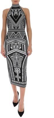 Balmain Jacquard Midi Dress