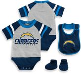 NFL San Diego Chargers Size 24M 3-Piece Creeper Bib and Bootie Set