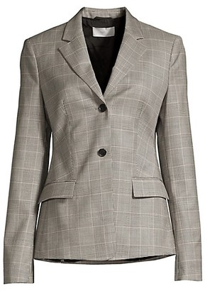 HUGO BOSS Jatinda3 Natural Wool Stretch Check Jacket