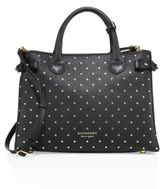Burberry Banner Medium Studded Leather Satchel