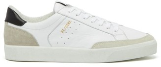 RE/DONE 90s Skate Shoe Leather And Suede Trainers - White Black