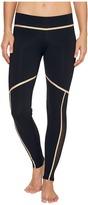 Luli Fama Warrior Spirit Gold Trimmed Leggings - Long Women's Casual Pants
