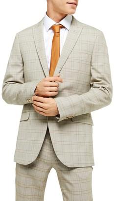 Topman Jake Check Skinny Fit Suit Jacket