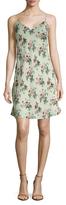 Saint Laurent Floral Print Shift Dress