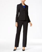 Le Suit Three-Piece Two-Button Texture-Weave Pantsuit
