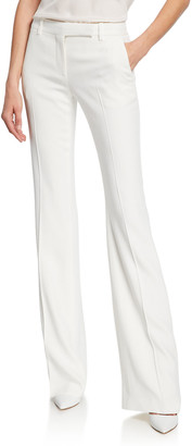 Alexander McQueen Leaf Crepe Classic Suiting Pants