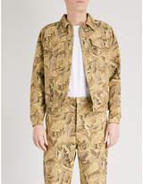 Loewe X William Morris Acanthus-jacquard Denim Jacket