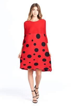 Nabisplace Pleated Polkadots Dress