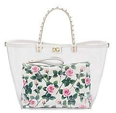 Dolce & Gabbana Women's Escape Rose-Print PVC Tote Bag