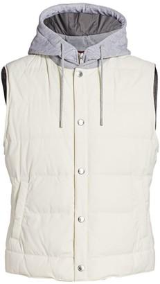 Brunello Cucinelli Hooded Down Puffer Vest