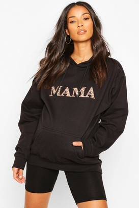 boohoo Maternity Leopard Mama Hoody