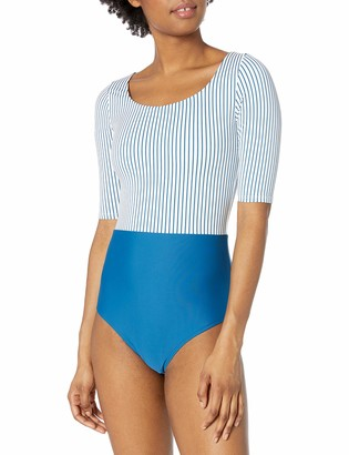 Body Glove Women's Kat Mid Length Sleeve Paddle One Piece Swimsuit with UPF 50+