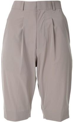 Amal Al Mulla Slim-Fit Pleated Detail Shorts