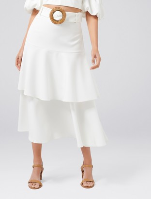 Ever New Olympia Tiered Belted Skirt