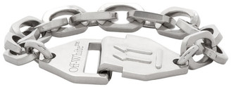 Off-White Silver Hexnut Chain Bracelet