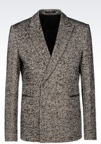 Emporio Armani Runway Double-Breasted Jacket In Cotton Blend