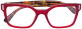 Prada square framed striped arm glasses