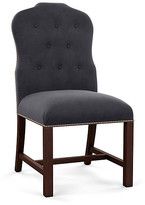 Bunny Williams Home Jack Side Chair - Gray Velvet frame, mahogany; upholstery, gray; nailheads, distressed brass