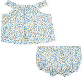 Baby CZ Floral Cotton Top & Bloomers Set