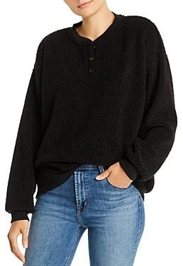 Donni Charm Sherpa Henley Sweatshirt