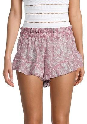 Caroline Constas Floral-Print Shorts