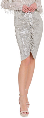 Endless Rose Sequin Ruffle-Front Skirt