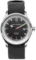 Jack Mason Brand Men&s Brand Nautical Woven Strap 42mm Watch