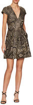 Temperley London Roxana Metallic Embellish Fit And Flare Dress