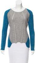 Helmut Lang Open Knit Colorblock Sweater