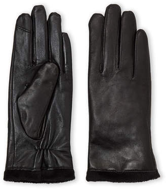 Fownes Brothers Black Lined Leather Gloves
