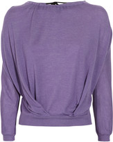 Nina Ricci Gathered cashmere and silk-blend sweater