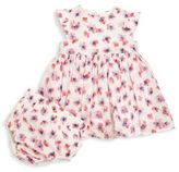 Armani Junior Baby's Two-Piece Floral Printed Dress & Bloomers Set