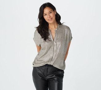 Bishop + Young Metallic Blake Blouse