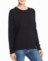 Aqua Cashmere Front Seam Drop Shoulder Cashmere Sweater - 100% Exclusive