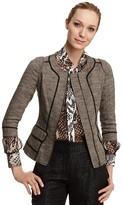 Rachel Roy Signature Novelty Tweed Structured Jacket
