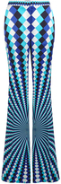 Mary Katrantzou Thoukis Silk Straight Legged Pant