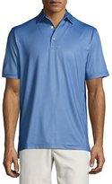Peter Millar Sean Pointer Mini-Dot Jersey Polo Shirt, Smoke